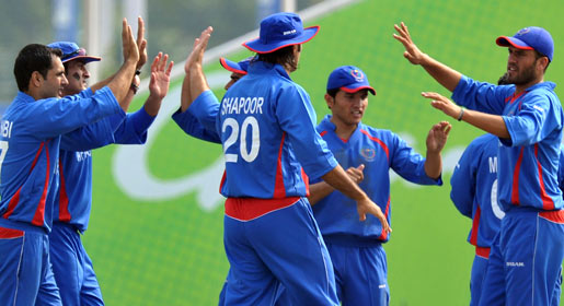 Hong Kong were bowled out for 63 in 17.4 overs by Afghanistan, with Nadeem Ahmed the only other batsmen to reach double figures, top-scoring with 17. —AFP Photo