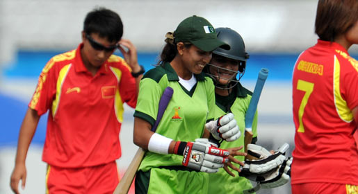 """""""We never get this kind of media attention at home. I am just so glad the sport made it to the Asian Games,"""" said Pakistan skipper Sana Mir. —AFP Photo"""